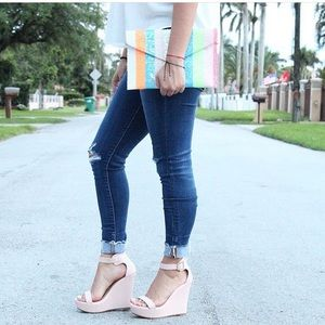 Shoes - Blush Wedges. NEW